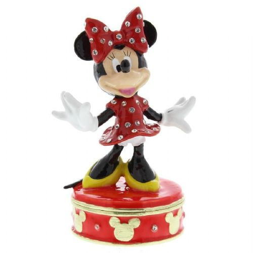 Minnie Mouse Collectable Figurine - Disney Trinket Boxes for Collectors and Birthday Gifts